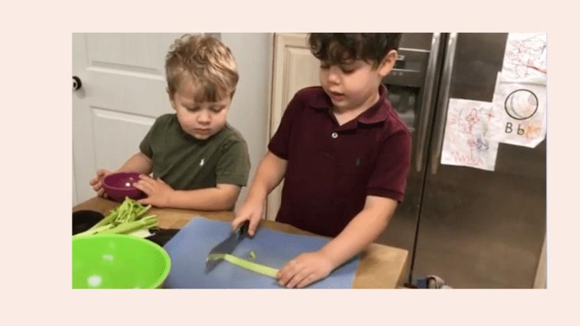 Jessa Duggar Seewald's 4 & 3-Year-old Sons Show Off Knife Cutting Skills (Video)