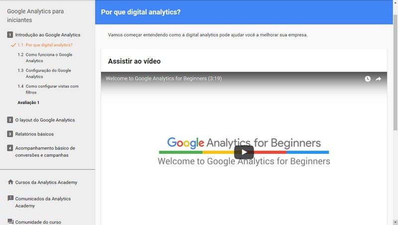 Curso de Marketing Digital Google Analytics para Iniciantes