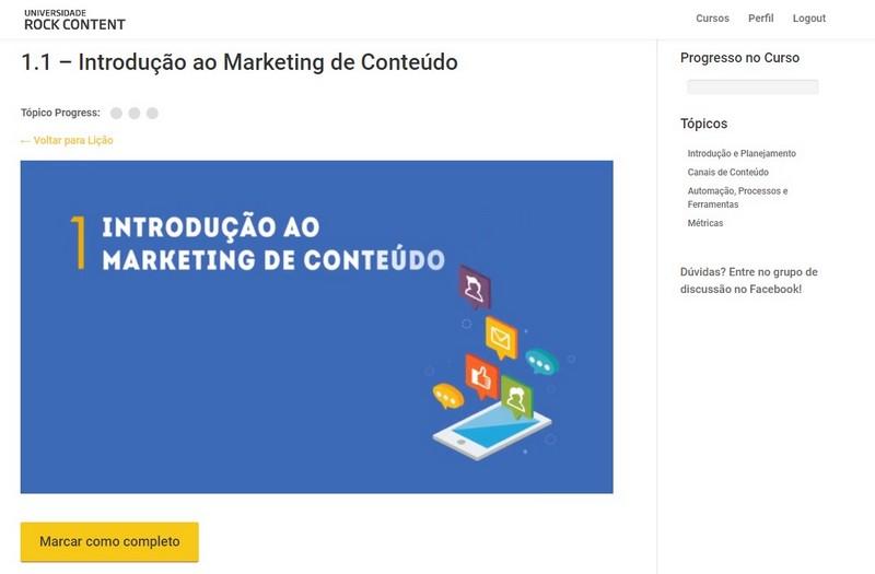 Curso de Marketing Digital Marketing de Conteúdo RockContentt