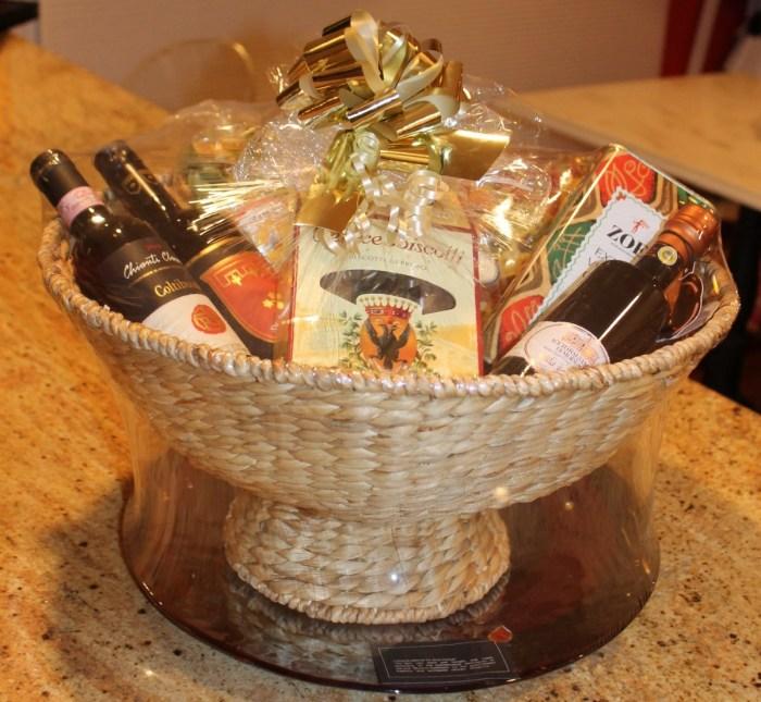 custom italian gift basket