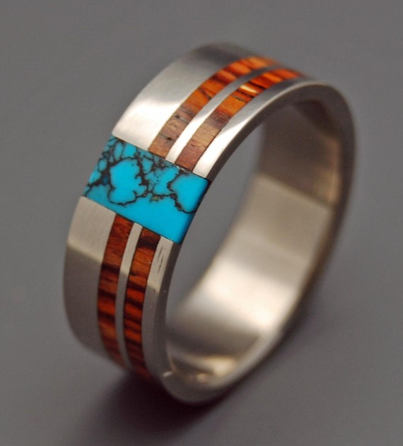 8 Unique Wood Wedding Rings BravoBride