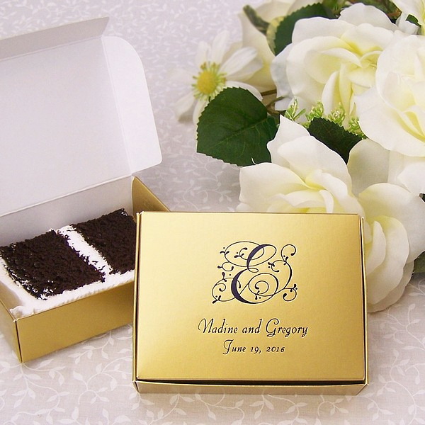 Fabulous Find  Wedding Cake Boxes    BravoBride http   myweddingreceptionideas com cake slice favor boxes asp