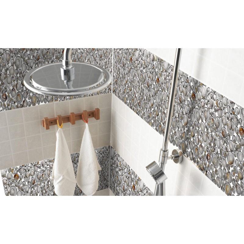 penny round crystal glass tile backsplash resin kitchen with conch designs floor bathroom mosaic tile gct619