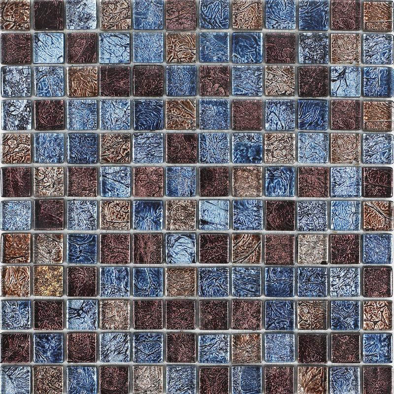 glossy glass tile backsplash ideas bathroom mosaic sheets brown and blue bravotti com