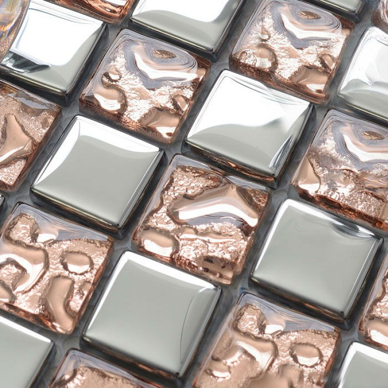 glass mosaic tiles silver wallpaper kitchen backsplash tile clear crystal glass mosaics bathroom wall sticker shower hotels dt52