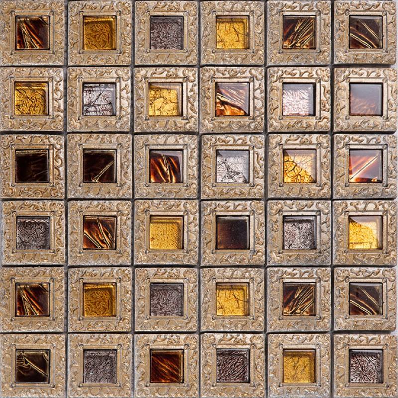 crystal glass tiles for kitchen and bathroom brown mosaic glass block vintage tv background backsplash wall tile brick klgt008