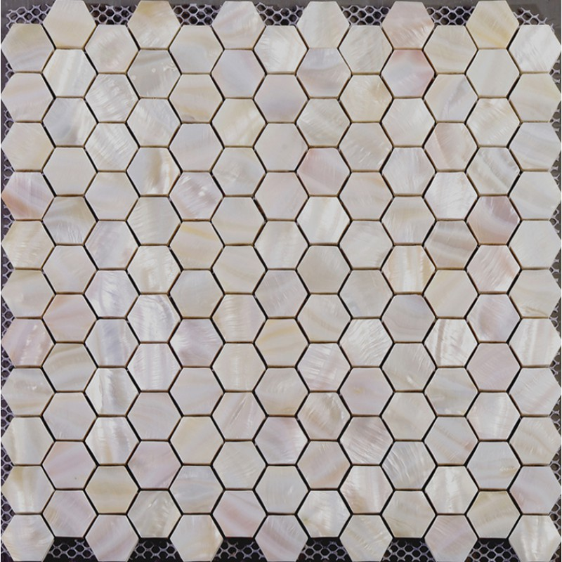 hexagon mosaic mother of pearl tiles backsplash cheap bathroom shower tiles designs iridescent seashell tile natural shell materials st019