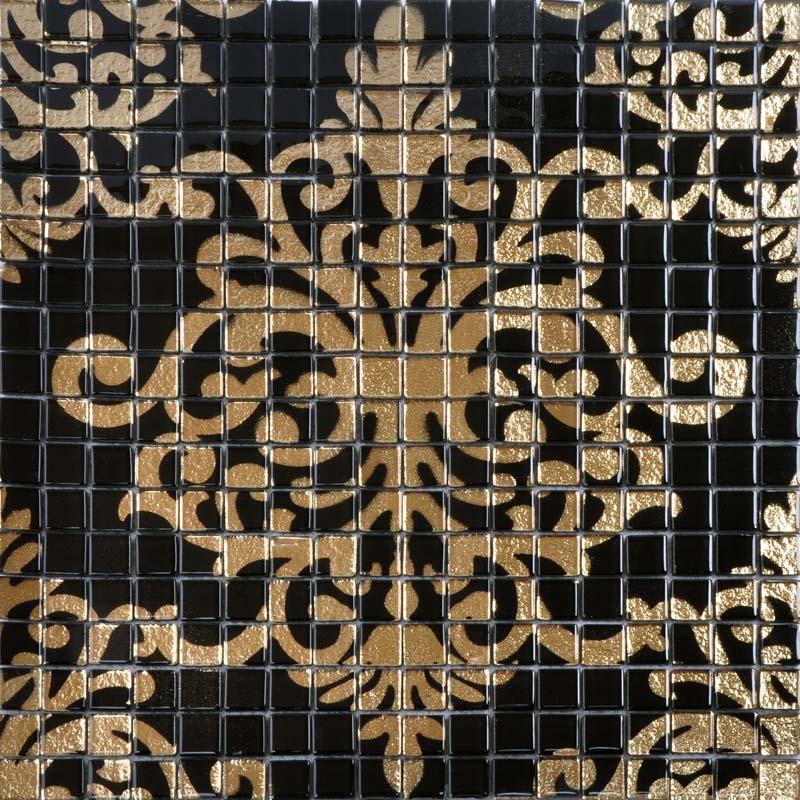 glass mosaic tile murals black and gold crystal backsplash plated mosaic puzzle wall tiles bravotti com