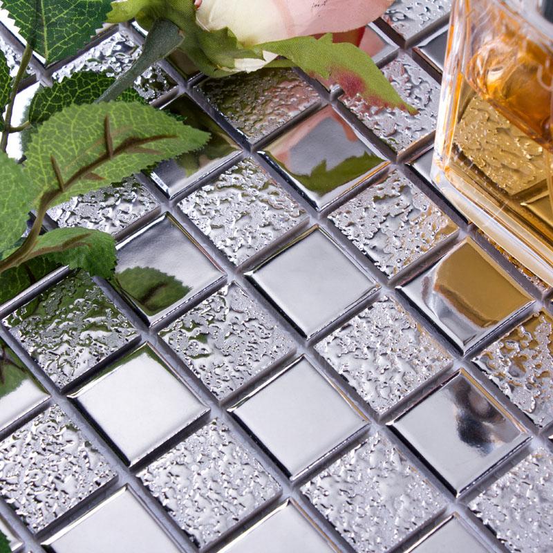glazed porcelain mosaic wall tile backsplash silver ceramic tiles for bathroom floor mirror tile hd 063 kitchen backsplash tiles