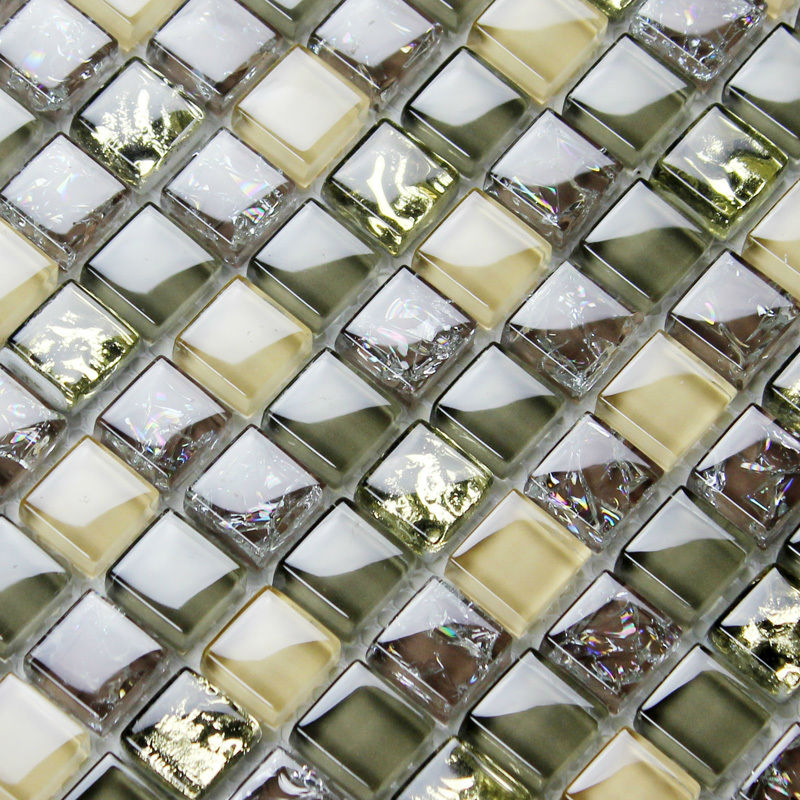 brown glass tile backsplash ideas bathroom mosaics ice crackle crystal wall tiles bravotti com