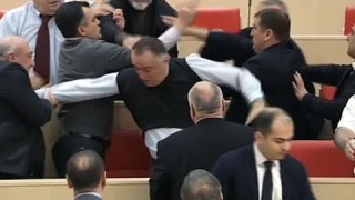 Boxing Day brawl breaks out in Georgian parliament