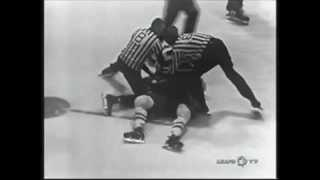 Montreal Canadiens vs Toronto Maple Leafs Brawl Apr 14, 1966