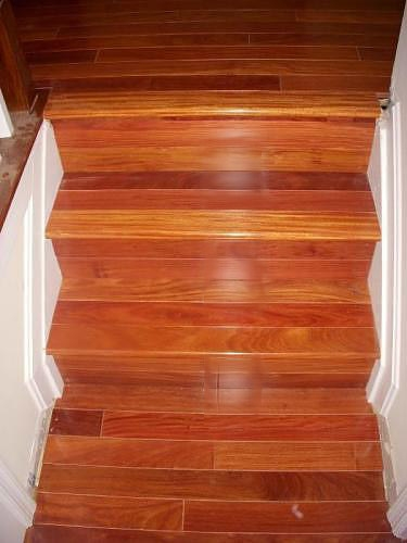 Stairs Treads Risers And Hand Rails Brazilian Direct   Brazilian Koa Stair Treads   Brazilian Cherry   Wood   Tigerwood   Stair Nose   Risers