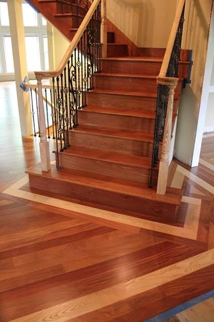 Stairs Treads And Risers Hardwood Floor Accessories By   Brazilian Cherry Stair Treads   Box   Walnut   Mahogany   Stained   Finished