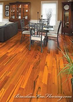 Hardwood Flooring Koa Hardwood Flooring   Brazilian Koa Stair Treads   Brazilian Cherry   Wood   Tigerwood   Stair Nose   Risers