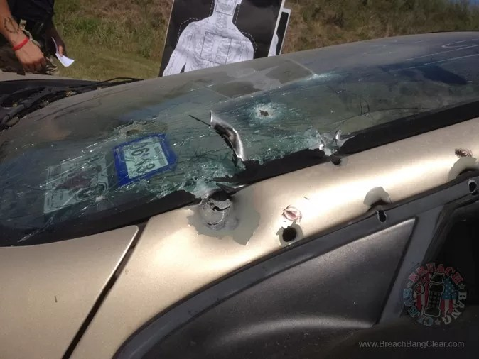 Steve Fisher shot the A-pillar with pistol rounds, rifle rounds and a 12 gauge slug. Result? NOTHING penetrated.