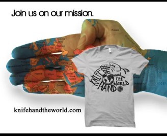 Knife hand the world - join us on our mission