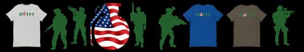 American frag: a patriotic green army man shirt!