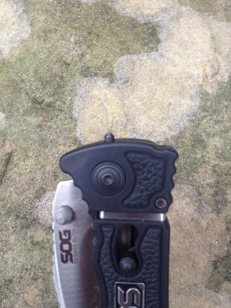 Throat Slitter, SOG's Trident Elite knife