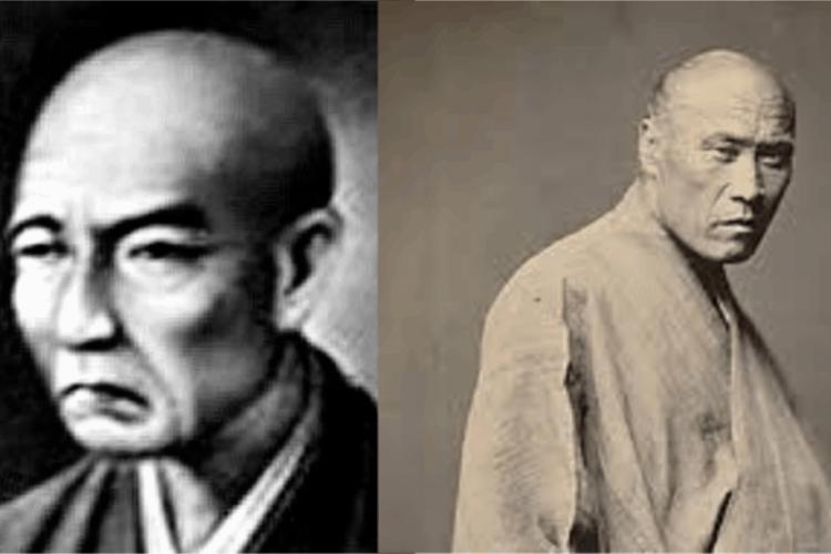 Two images of Yamamoto Tsunetomo.