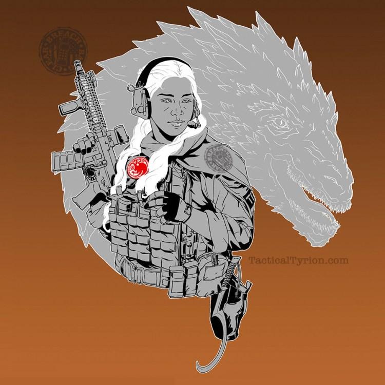 A tactical Targaryen and her dragon.