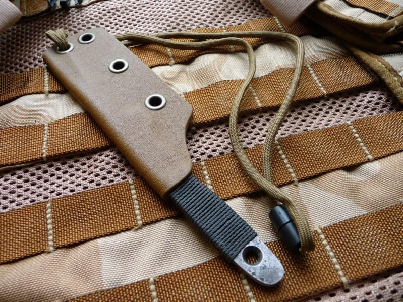 "RU Titley Knives ""Shiv"" custom fixed blade."