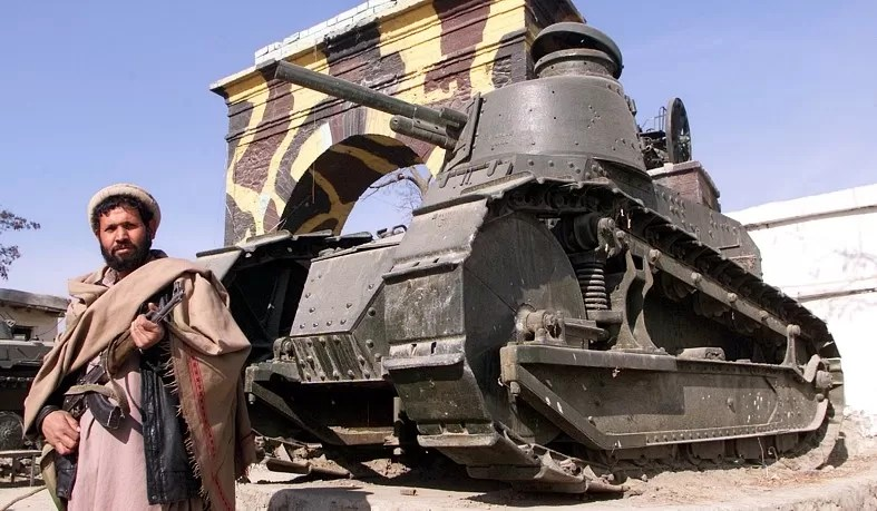 The FT17 made its way to Afghanistan in the years between WWI and WWII.