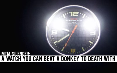 MTM Silencer: A Watch You can Beat a Donkey to Death With