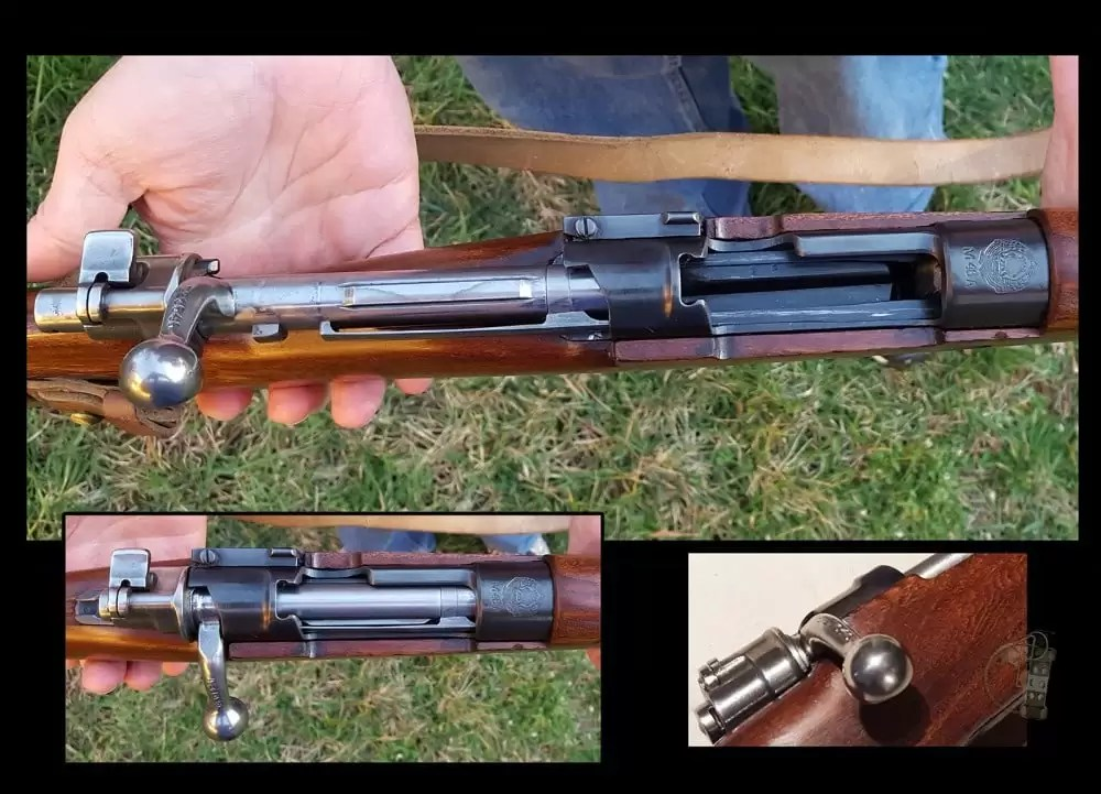 M48 Mauser action open and closed.