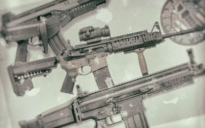 Three Vintage Assault Rifles