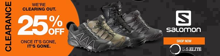 US Elite Gear - Salomon Boots; Breach Bang Clear Tactical News
