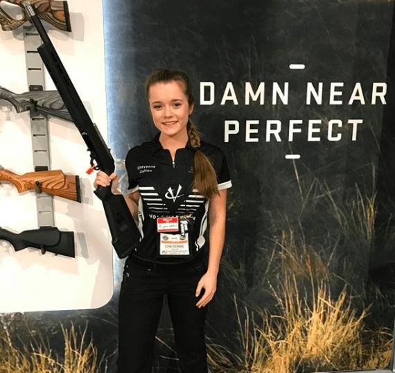 Cheyenne Dalton at the Volquartsen Booth 2018 SHOT Show