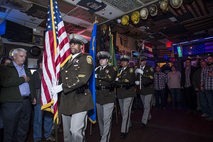 Las Vegas Metropolitan Police Dept. Honor Guard at Hogs & Heifers