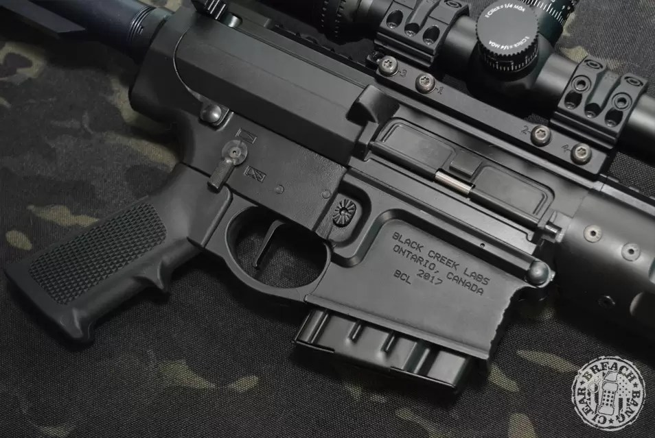 BCL 102 review - a look at the ejection side of the rifle.