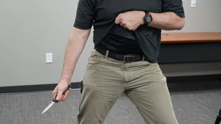 Blade deployment - knife fighting and bladed weapon defense.
