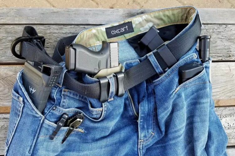 Dynamis Alliance AdaptivX (formerly Oxcart jeans) close up.