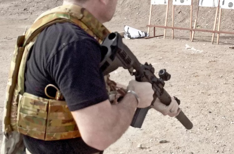 Tyr Tactical plate carrier on the range in Phoenix