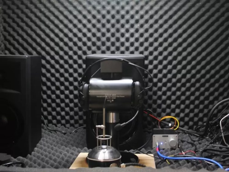 A Liberator Headset undergoes testing.
