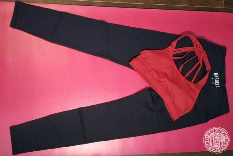 Barbell Apparel leggings and sports bra