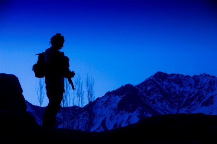 Army Ranger in Afghanistan.