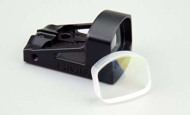 Shield sight with glass lens option.