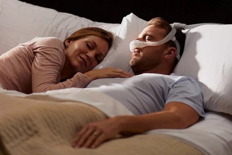 Sleep apnea CPAP device: Philips - DreamWear. This mask has three interchangeable cushion options: nasal, gel pillows, and full face so it's a bit easier to find one that's comfortable for you.