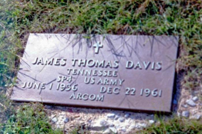 James T. Davis, memorial stone