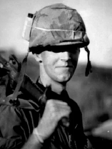 Gustav Hasford in Vietnam.