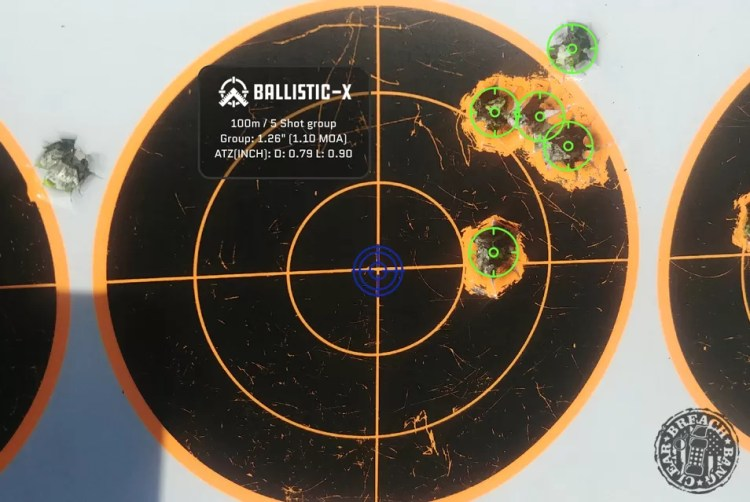 4 rounds in exactly a half MOA - BCL-102 MK7.