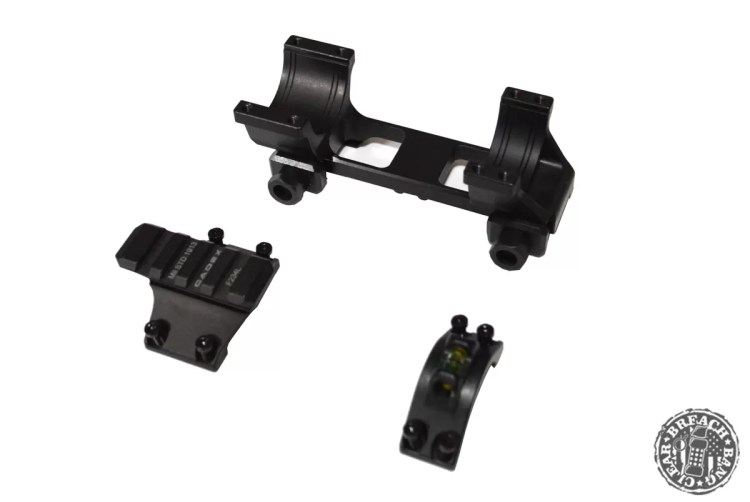 The parts of the Cadex Defence Unitized Scope Rings
