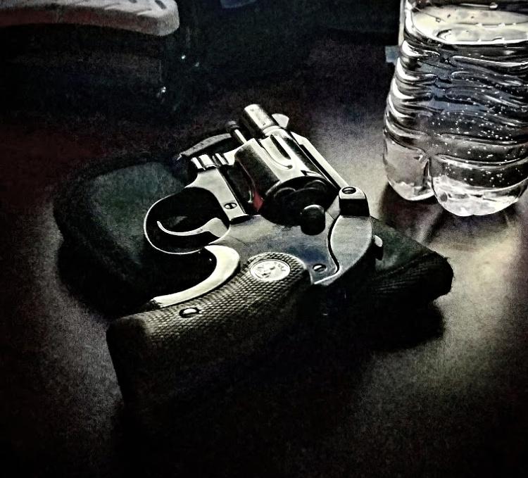 Colt Agent snub nosed revolver, classic look.
