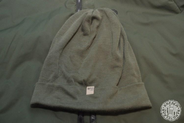 Olive Drab EDC items: The Minus33 Ridge Cuff wool beanie is light and warm.