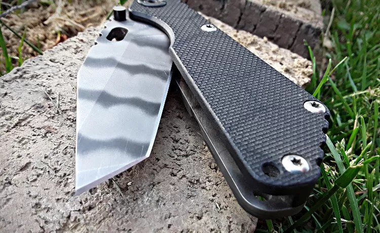 Strider Knives Sng tanto tip.