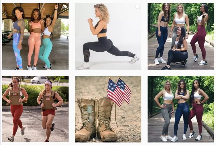 Besides advertising their products, CNC's Instagram accounts often gives shout outs to veterans , currently active military members and first responders.